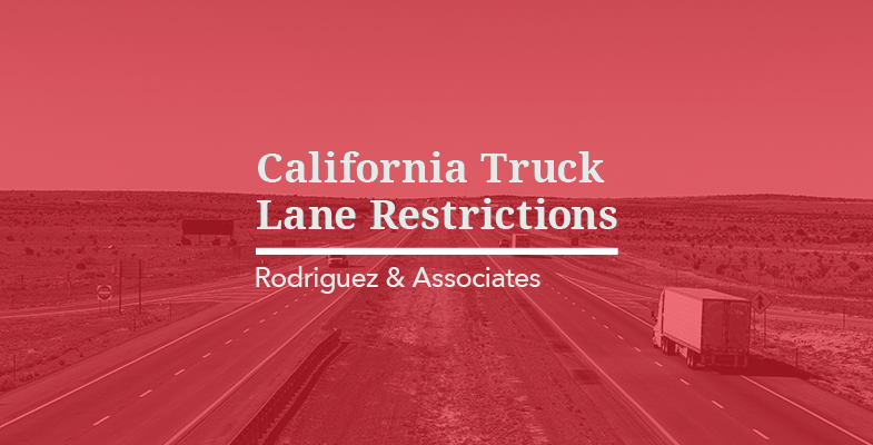 California Truck Lane Restrictions