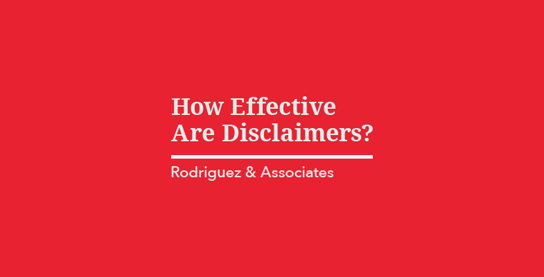 How Effective Are Disclaimers