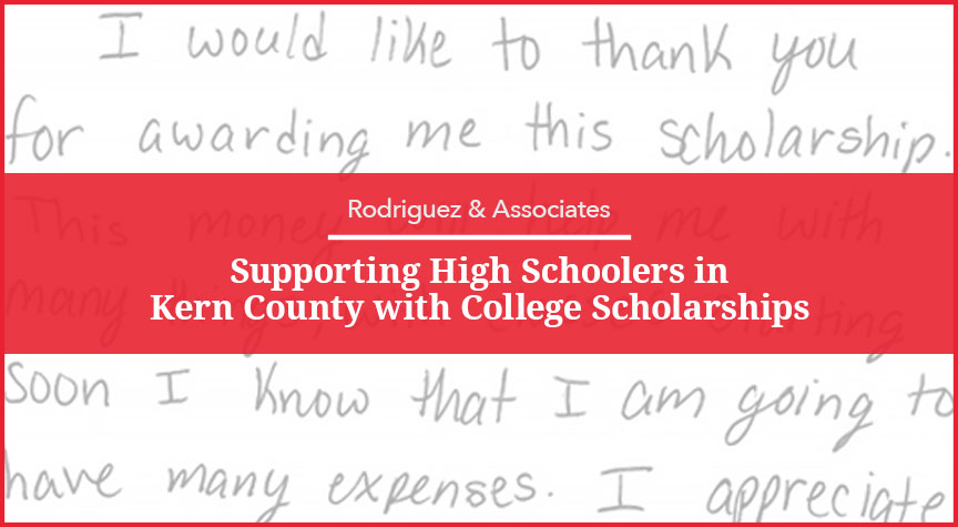 Supporting High Schoolers in Kern County with College Scholarships