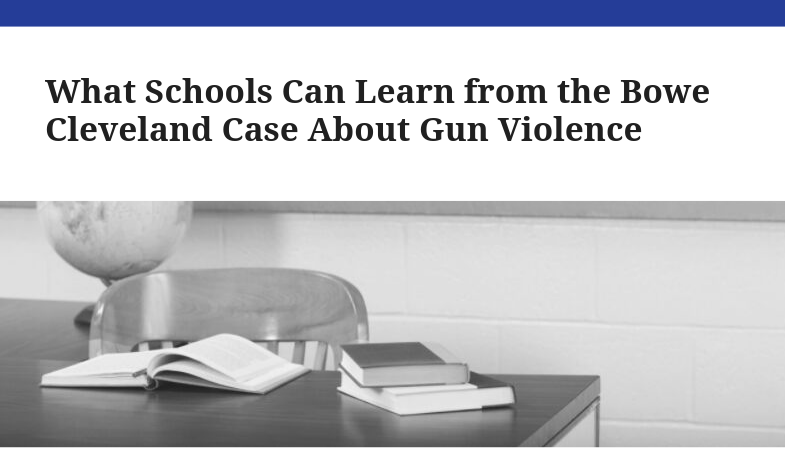 what school can learn from gun violence