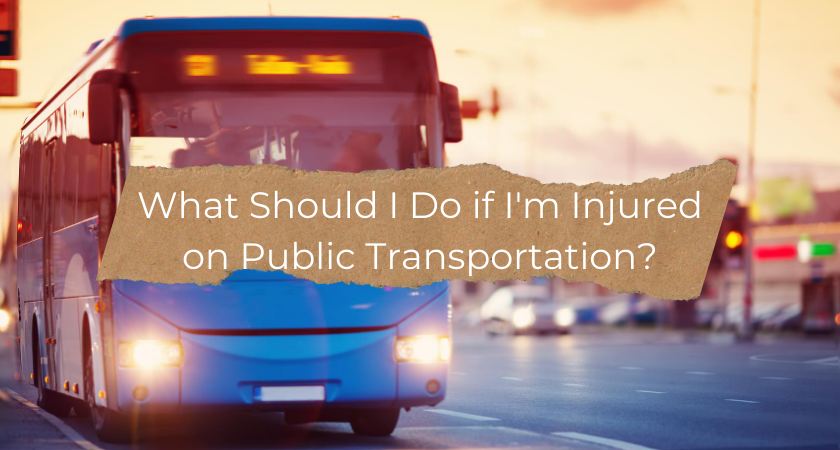 What Should I Do if I'm Injured on Public Transportation