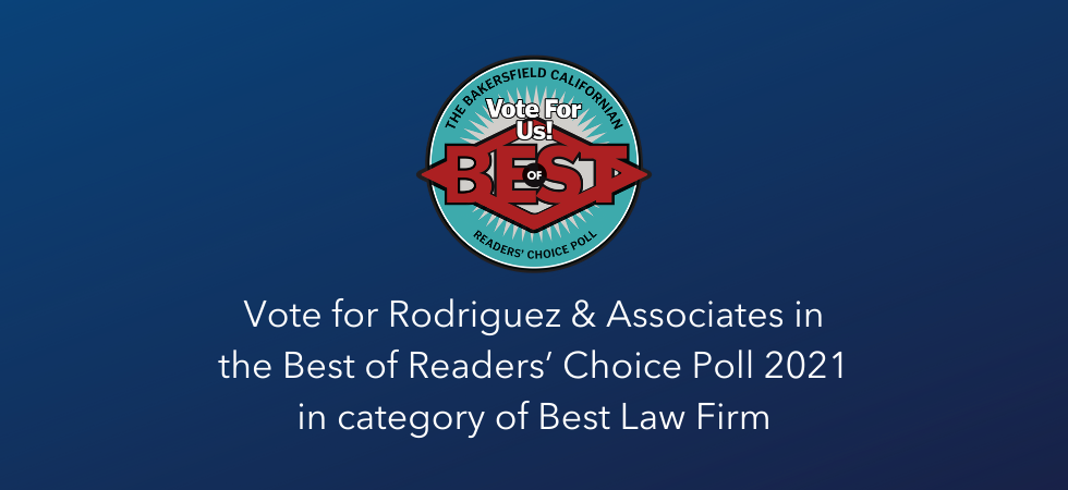 Vote for Rodriguez & Associates in the Best of Readers' Choice Poll 2021 in category of Best Law Firm