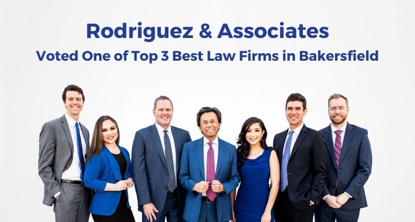 Rodriguez and associates voted top 3 law firms in bakersfield